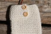 MORZINE: Gants tricoté main, écru; 32€100% Alpaga