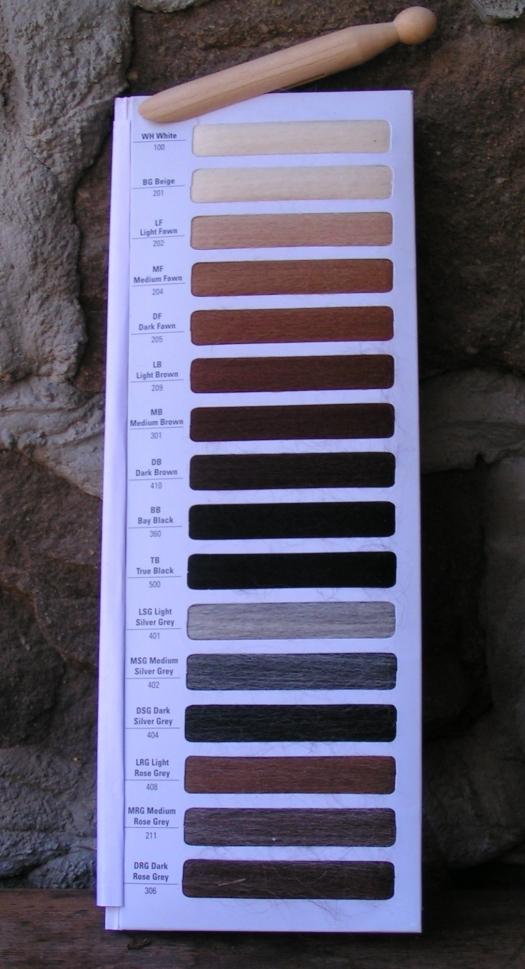 nuancier de couleur en laine d'alpaga