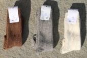Chaussettes, marron, beige et écru; 16€100% Alpaga