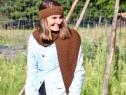 LES ANDES: Châle marron glacé, H;31 L:131 Prix:49€ 100% alpaga
