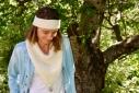 MEGEVE: Bandanas écru, Tricoté avec notre big alpaga, très moelleux et très doux et agréable à porter. Couleur écru. H; 40Prix 42€100% alpaga